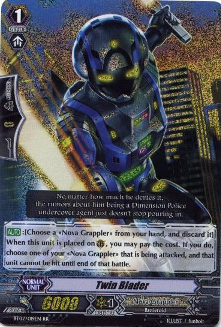 Cardfight Vanguard Onslaught of Dragon Souls RR Rare Twin Blader BT02-019