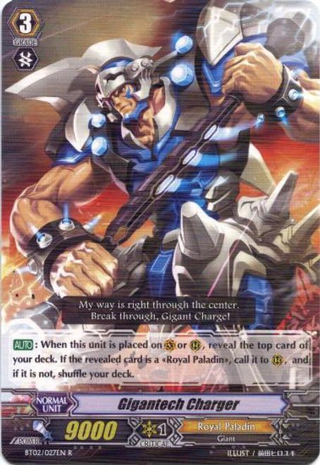 Cardfight Vanguard Onslaught of Dragon Souls Rare Gigantech Charger BT02-027