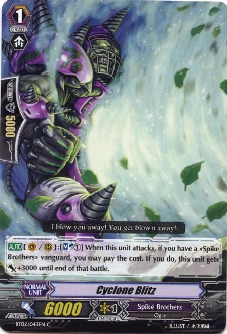Cardfight Vanguard Onslaught of Dragon Souls Common Cyclone Blitz BT02-043