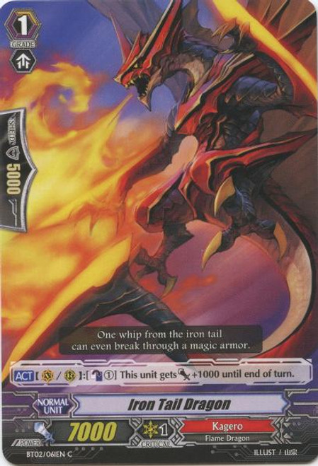 Cardfight Vanguard Onslaught of Dragon Souls Common Iron Tail Dragon BT02-061