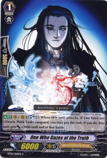 Cardfight Vanguard Onslaught of Dragon Souls Common One Who Gazes at Truth BT02-066