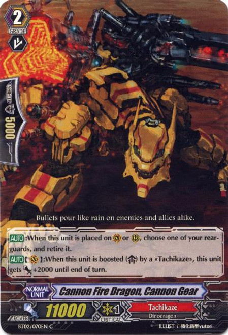 Cardfight Vanguard Onslaught of Dragon Souls Common Cannon Fire Dragon, Cannon Gear BT02-070