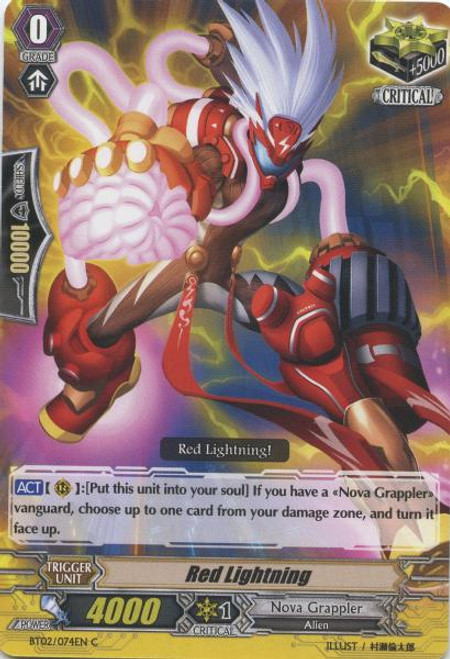 Cardfight Vanguard Onslaught of Dragon Souls Common Red Lightning BT02-074
