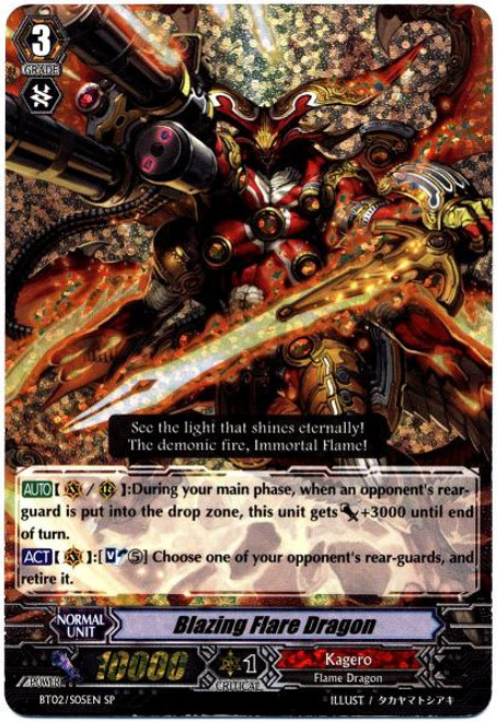 Cardfight Vanguard Onslaught of Dragon Souls SP Blazing Flare Dragon BT02-S05