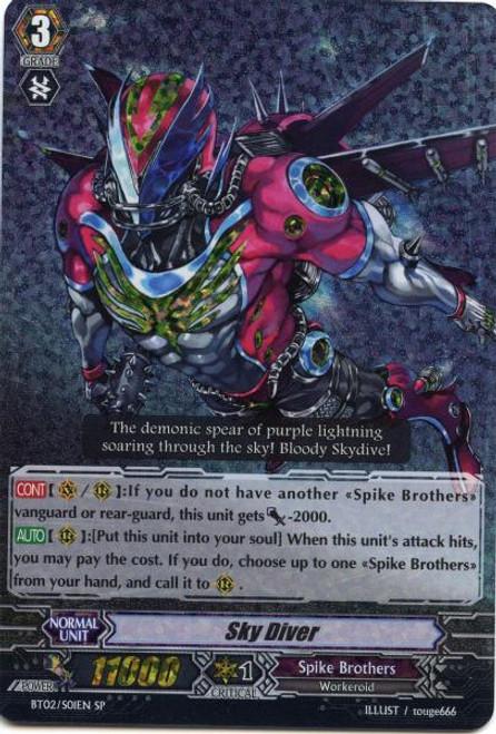 Cardfight Vanguard Onslaught of Dragon Souls SP Sky Diver BT02-S01