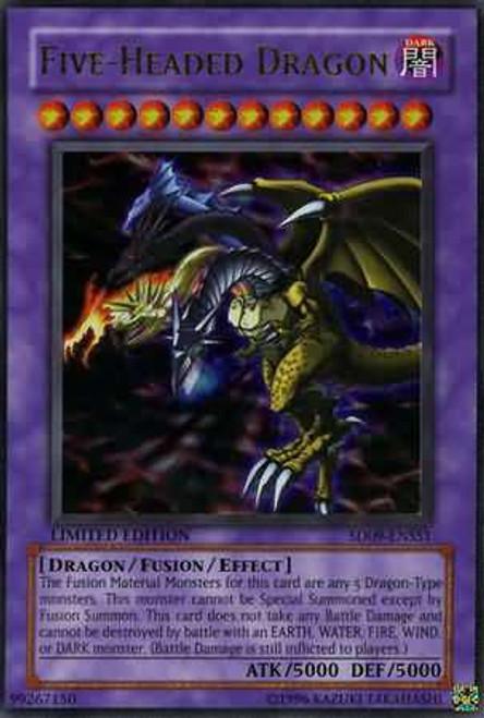 YuGiOh Structure Deck: Dinosaur's Rage Ultra Rare Five Headed Dragon SD09-ENSS1