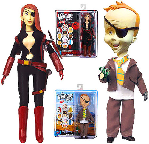 The Venture Bros. Series 7 Molotov & B. Quizboy Action Figures