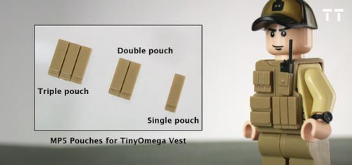 Tiny Tactical MP5 Magazine Double Pouch [Dark Tan]