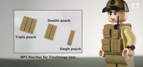 Tiny Tactical MP5 Magazine Triple Pouch [Dark Tan]