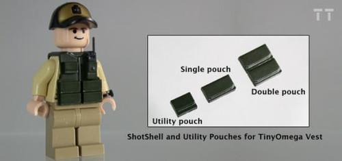 Tiny Tactical Shotgun Shell Single Pouch [Dark Olive Green]