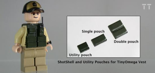 Tiny Tactical Shotgun Shell Double Pouch [Dark Olive Green]