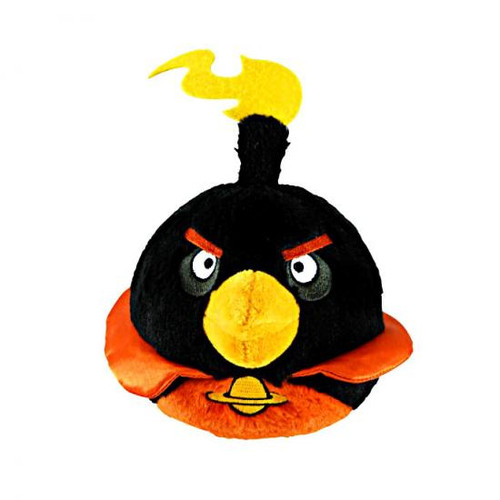 Angry Birds Space Firebomb Bird 5-Inch Plush [With Sound]
