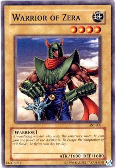 YuGiOh Ancient Sanctuary Common Warrior of Zera AST-002