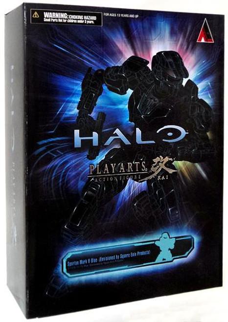 Halo Reach Play Arts Kai Blue Spartan Action Figure [Mark V]