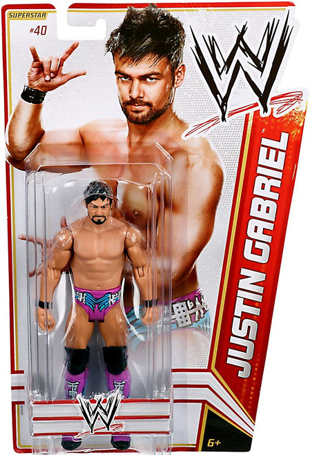 WWE Wrestling Series 19 Justin Gabriel Action Figure #40