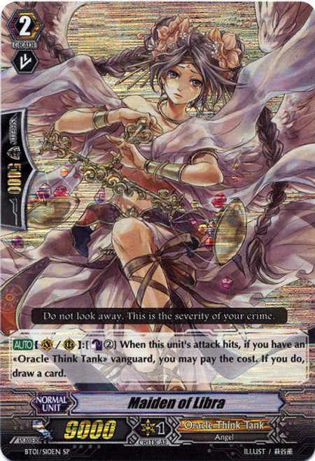 Cardfight Vanguard Descent of the King of Knights SP Maiden of Libra BT01-S10