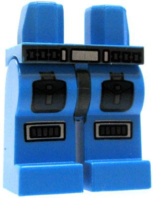 LEGO Minifigure Parts Light Blue Legs with Belt & Armored Details Loose Legs [Loose]