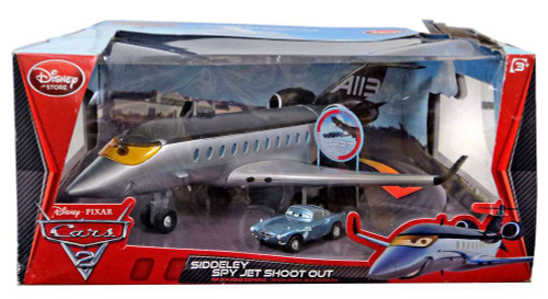 Disney Cars Cars 2 Playsets Siddeley Spy Jet Shoot Out Playset [Damaged Package]