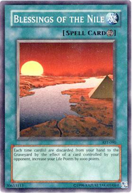 YuGiOh Ancient Sanctuary Common Blessing of the Nile AST-090