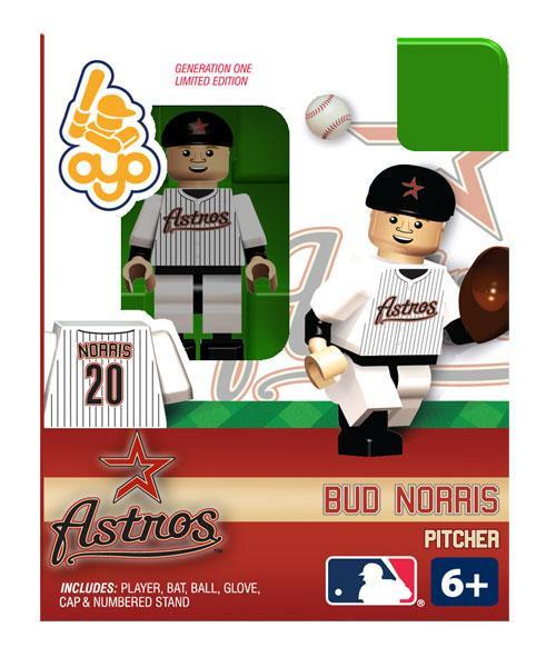 Houston Astros MLB Generation One Bud Norris Minifigure