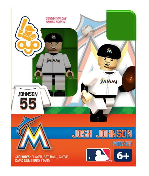 Miami Marlins MLB Generation One Josh Johnson Minifigure