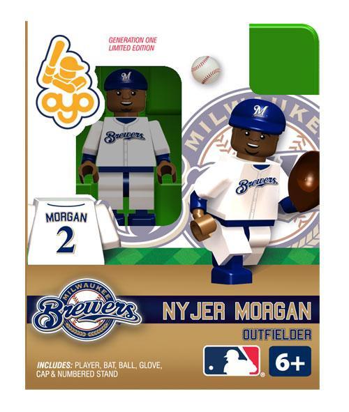 Milwaukee Brewers MLB Generation One Nyjer Morgan Minifigure