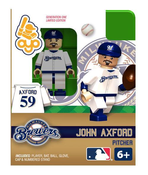 Milwaukee Brewers MLB Generation One John Axford Minifigure