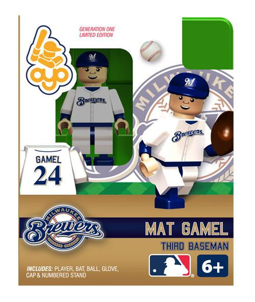 Milwaukee Brewers MLB Generation One Mat Gamel Minifigure
