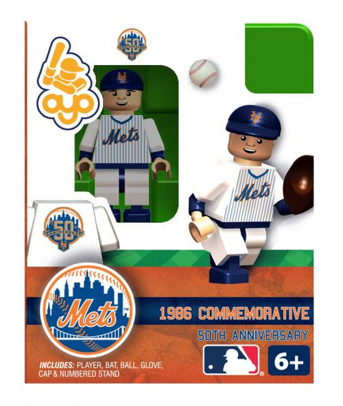 New York Mets MLB 50 Anniversary 1986 Home NY Mets Minifigure