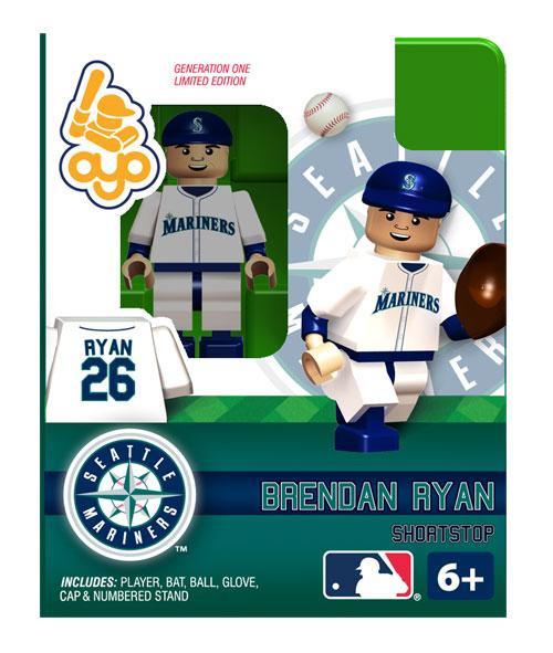 Seattle Mariners MLB Generation One Brendan Ryan Minifigure