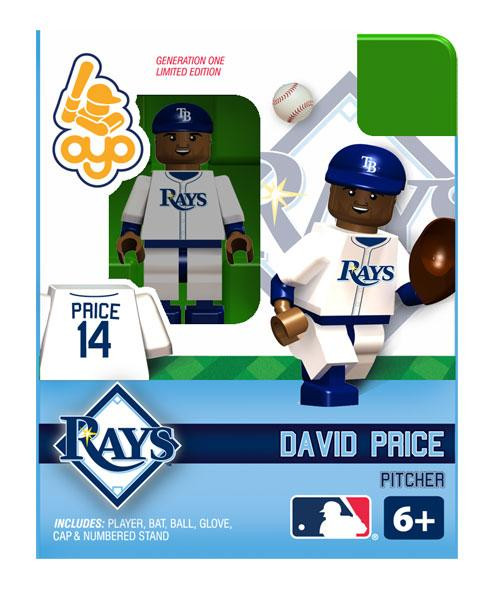 Tampa Bay Rays MLB Generation One David Price Minifigure