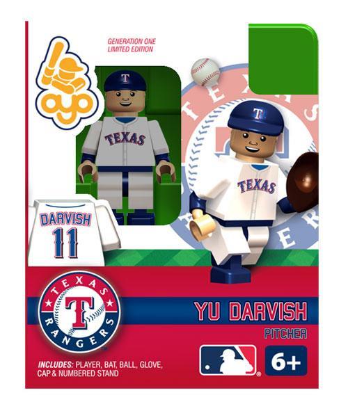 Texas Rangers MLB Generation One Yu Darvish Minifigure