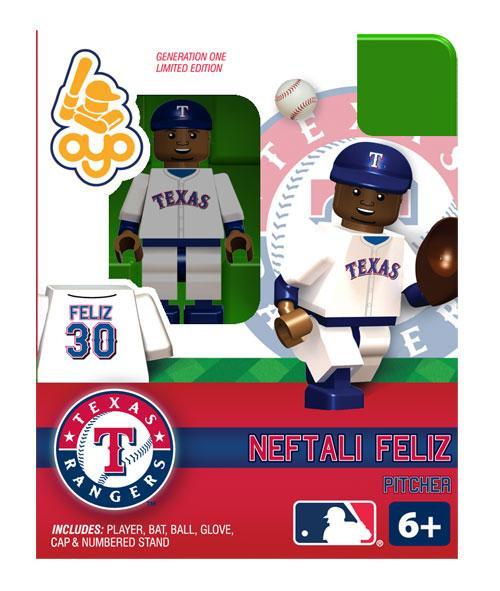 Texas Rangers MLB Generation One Neftali Feliz Minifigure