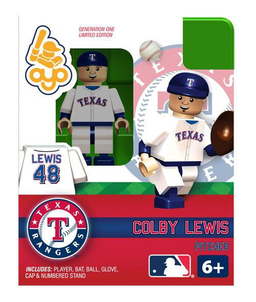 Texas Rangers MLB Generation One Colby Lewis Minifigure