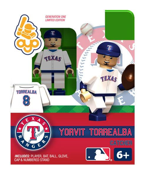 Texas Rangers MLB Generation One Yorvit Torrealba Minifigure