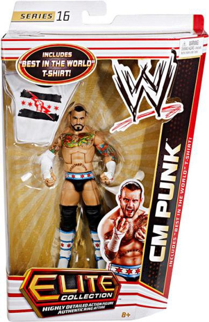 WWE Wrestling Elite Series 16 CM Punk Action Figure [Best in the World T-Shirt]