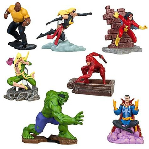 Disney Marvel Universe 7-Piece Exclusive PVC Figure Set