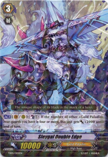 Cardfight Vanguard Slash of the Silver Wolf Fixed Sleygal Double Edge #002