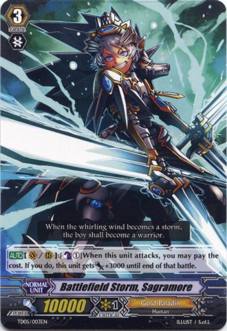 Cardfight Vanguard Slash of the Silver Wolf Fixed Battlefield Storm, Sagramore #003