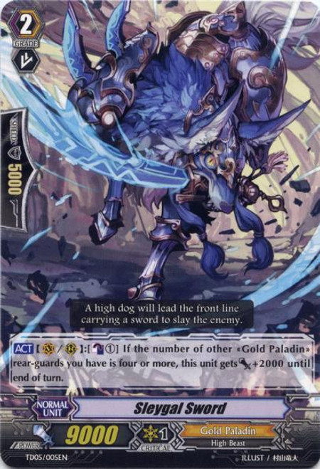 Cardfight Vanguard Slash of the Silver Wolf Fixed Sleygal Sword #005