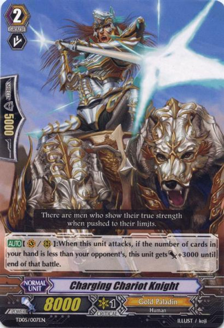 Cardfight Vanguard Slash of the Silver Wolf Fixed Charging Chariot Knight #007