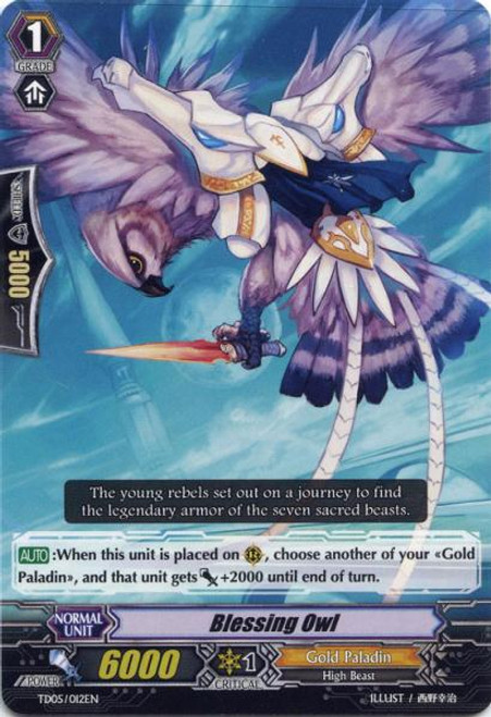 Cardfight Vanguard Slash of the Silver Wolf Fixed Blessing Owl #012