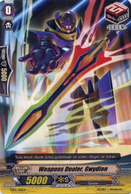 Cardfight Vanguard Slash of the Silver Wolf Fixed Weapons Dealer, Gwydion TD05/016EN