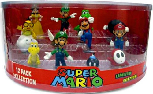 Super Mario Series 1 & 2 12 Pack Collection 4-Inch Mini Figure Set