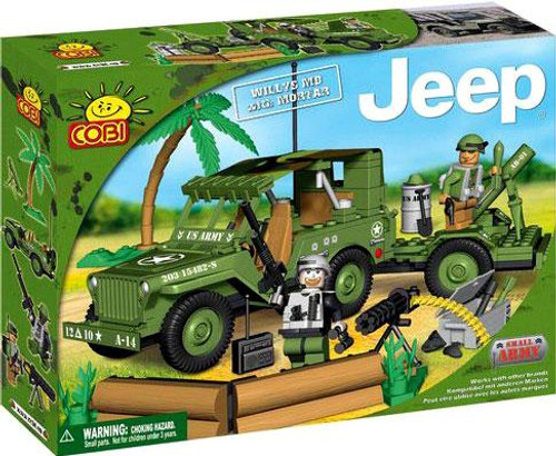 COBI Blocks Jeep Willys MB with Mortar Set #24200