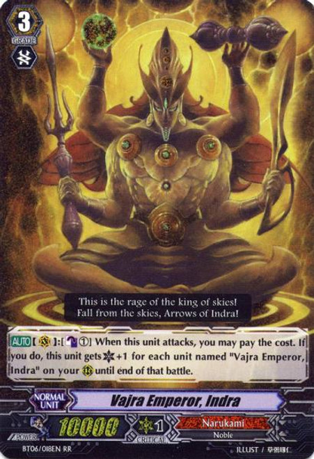 Cardfight Vanguard Breaker of Limits RR Rare Adamant Thunder Emperor, Indra BT06/018