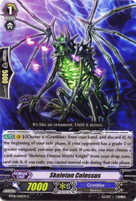 Cardfight Vanguard Breaker of Limits Common Skeleton Colossus BT06/065