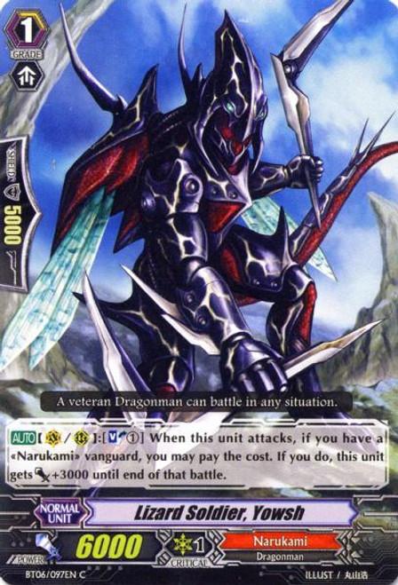 Cardfight Vanguard Breaker of Limits Common Lizard Soldier, Yowsh BT06/097