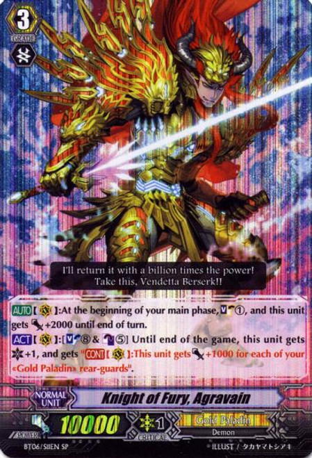 Cardfight Vanguard Breaker of Limits SP Knight of Fury, Aggraveil BT06/S11