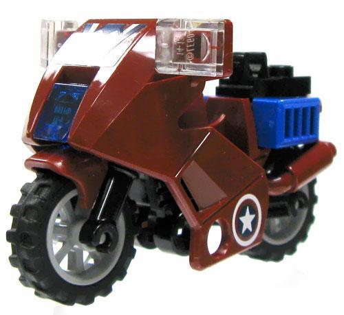 LEGO Marvel Super Heroes Dark Red & Blue Motorcyle Loose Vehicle #2 [Loose]